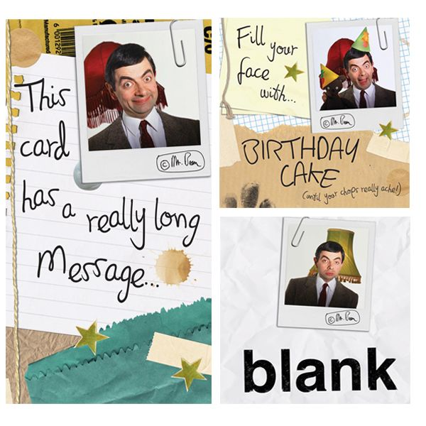 Official Mr Bean Cards now available from Licensed Publishers Danilo with Free UK Delivery at https://www.danilo.com/Shop/Cards-and-Wrap/Mr-Bean/