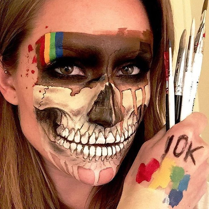 Thank you for 1️⃣0️⃣K this morning This InstaSkull is dedicated to all you lovelies who have supported my work these passed two months. Thank you so very much. #instagramskull #instagram #inspiration #10k #100daysofmakeup #faceart #facepainting #amazingmakeupart #skullmakeup #skullface #facepaint #skulltress #10kfollowers #dupemag #instagramlogo