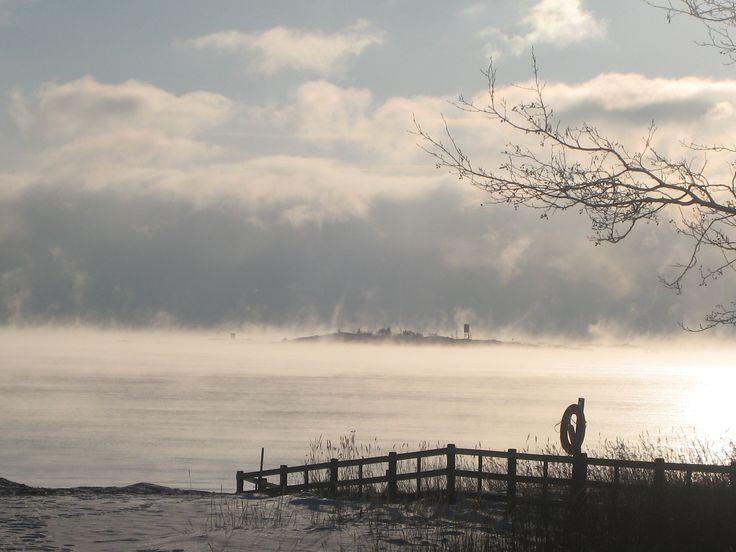 Talvinen horisontti Hangossa