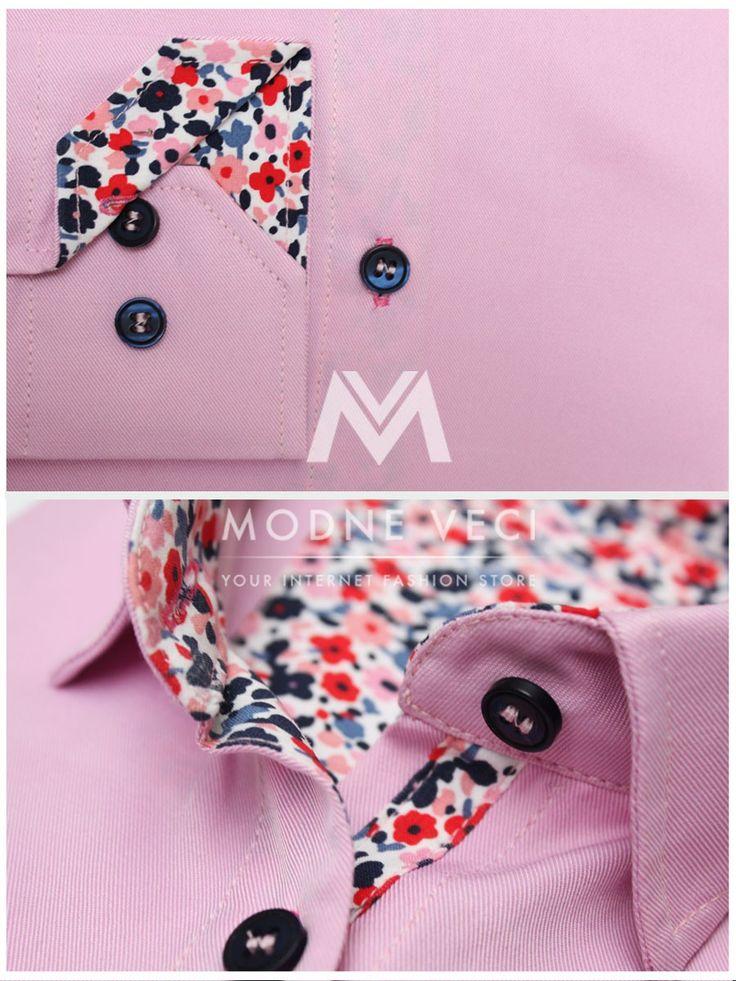 Skvelá elegantná košeľa v jemnej ružovej farbe vhodná pre mladé slečny ale i zrelé ženy. Moderný slim fit strih a táto farba dodá žene elegantnosť a jemnosť.Ak pracujete vo firme ktorá sa vyžaduje biznis štýl tak táto ružová košeľa je pre vás určite tou správnou voľbou.