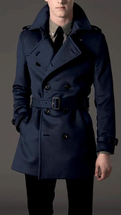 Its going to rain, so buy your rain coat just like you would buy your suit... form fitting. If you want a great pee coat, go to a thrift store and pick up a real Navy pee coat. Best ten buck I've ever spent!