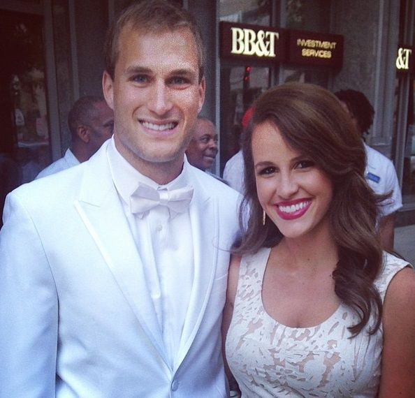 Kirk Cousins and his wife... so cute