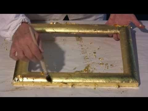Stuck-Konsole -- Blattgold (Schlagmetall, Blattmetall) auflegen - YouTube