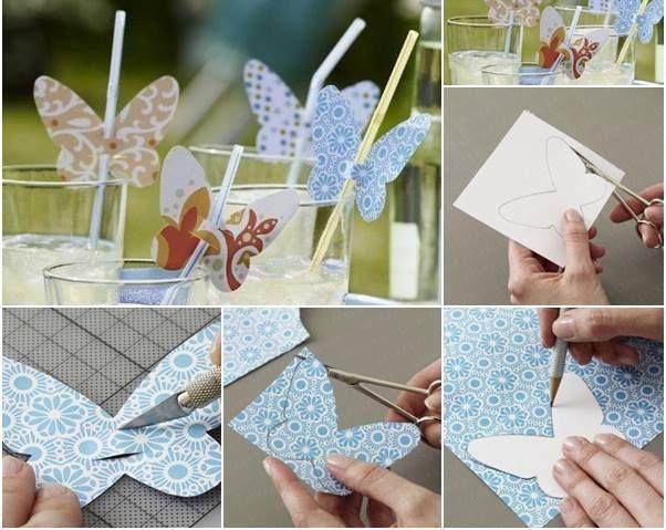 ...   Bombillas con mariposas