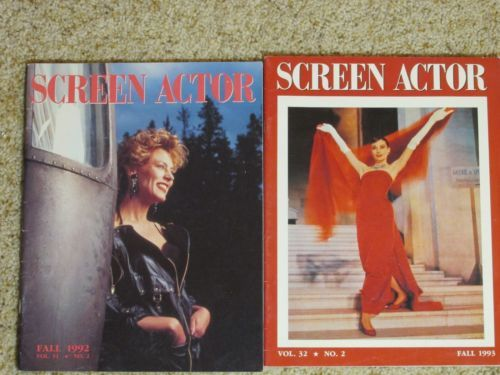 Screen-Actor-MAGAZINE-LOT-OF-2-ISSUES-from-1992-amp-1993