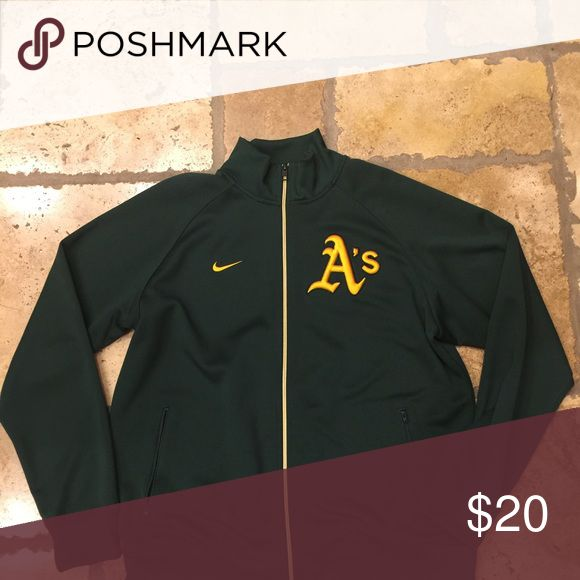 Nike Oakland Athletics Zip-up Jacket Size XL - Nike Oakland Athletics Zip-up Jacket with pockets. Nike Jackets & Coats