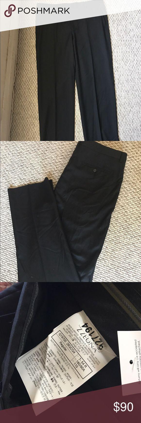 Z Zegna Men's Pants Black Wool Men's  $295 Pants Size 38 by 34 Z Zegna Pants Straight Leg