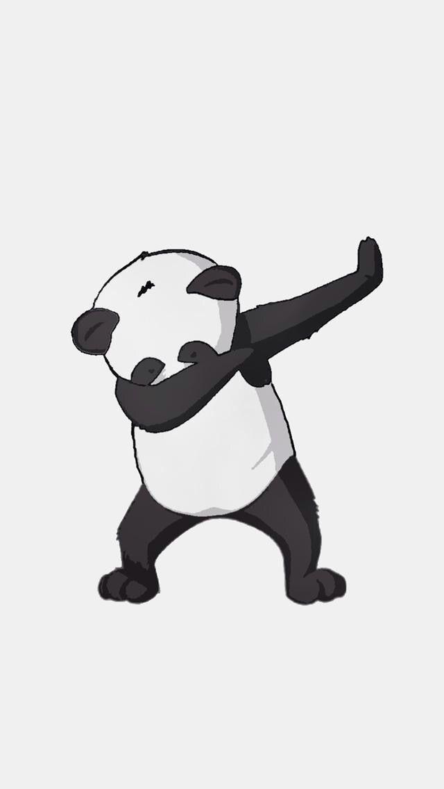 Yo it's a dabbing panda. Dab on bro