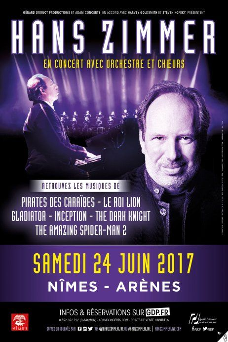 Hans Zimmer en concert aux Arènes de Nîmes le 24 Juin 2017