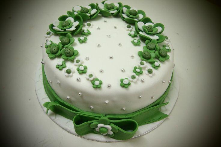 Apple green theme engagement cake cake engagement cakes