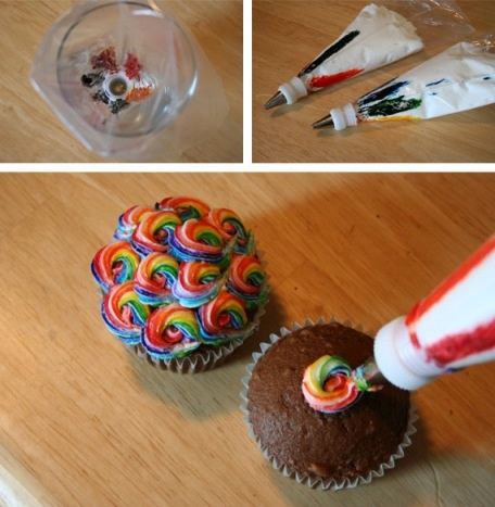 Andrea - here's a cool idea for the tie dye cake!