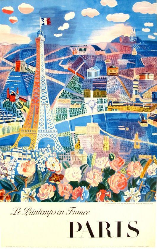 Paris - Le Printemps en France - c1960 (Raoul Dufy)