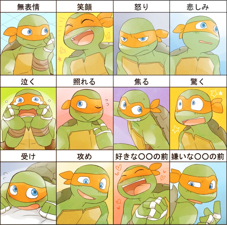 TMNT: Mikey's Emotions by ~sensei48 on deviantART