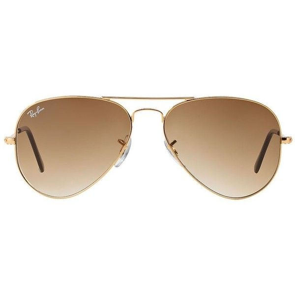 Ray-Ban Óculos de sol aviador unissex Sunglass Hut (510 BRL) ❤ liked on Polyvore featuring accessories, eyewear, sunglasses, glasses, ray ban sunglasses, ray ban eyewear, ray ban glasses and ray ban sunnies
