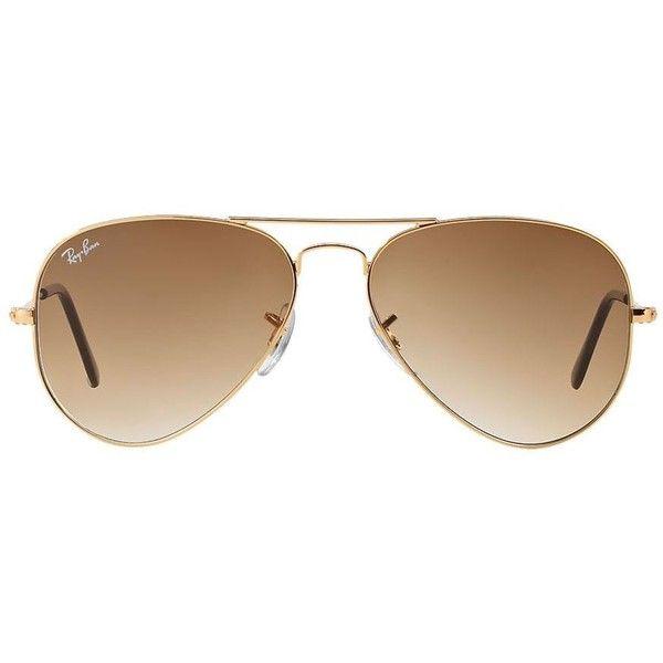 Ray-Ban Óculos de sol aviador unissex Sunglass Hut (510 BRL) ❤ liked on Polyvore featuring accessories, eyewear, sunglasses, glasses, ray ban glasses, ray ban sunglasses, ray ban eyewear and ray ban sunnies
