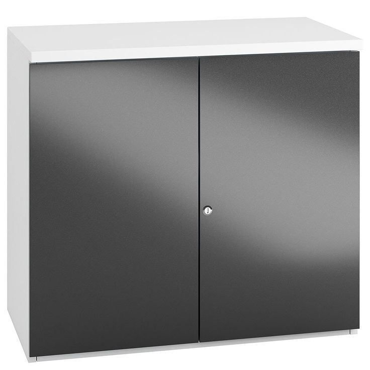 Small Office Storage Cupboard available in 3 Gloss Colours - Ideal for a modern office interior — Kit Out My Office