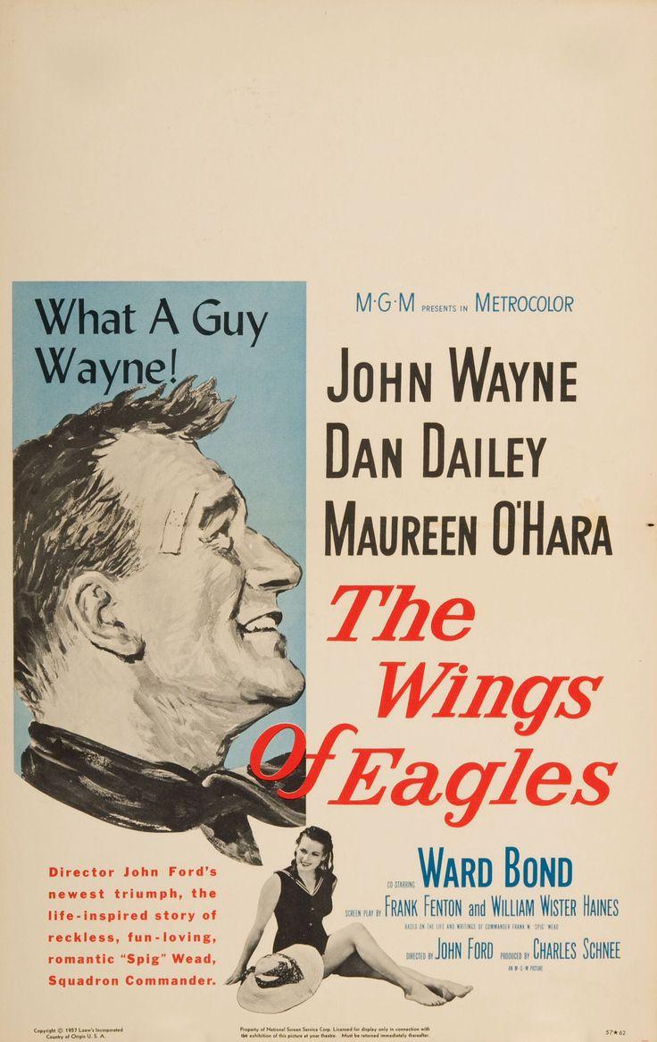 The Wings of Eagles (1957) John Wayne, Dan Dailey, Maureen O'Hara