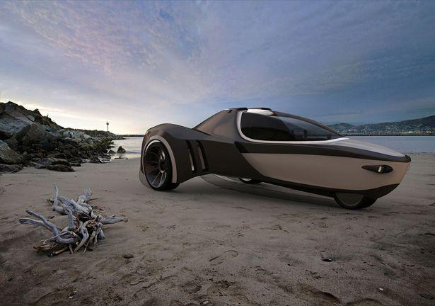 Manta Amphibious Vehicle - http://www.tuvie.com/manta-amphibious-electric-vehicle-by-david-cardoso-loureiro/