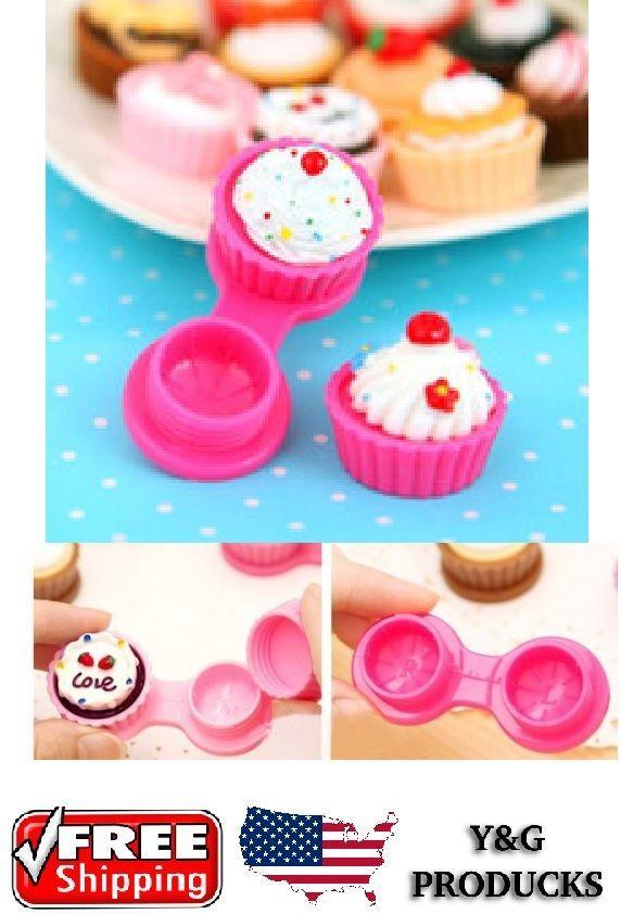 Travel Cute Cartoon Cake Cream Shaped Mini Contact Lens Box Case Holder   Health & Beauty, Vision Care, Contact Lens Cases   eBay!