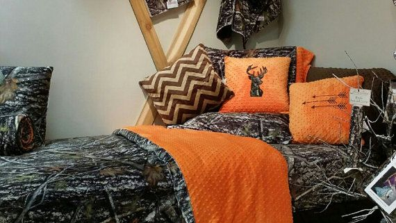Charmant Camo And Orange Bedding