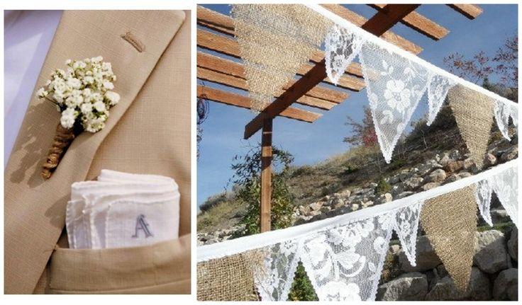 Burlap & lace themed wedding in Pelion.