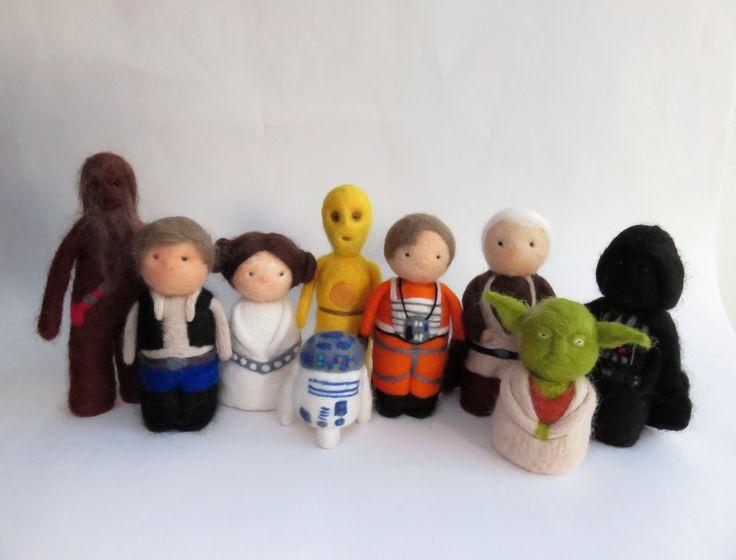 Needle Felted Star Wars by Karenpazfieltro