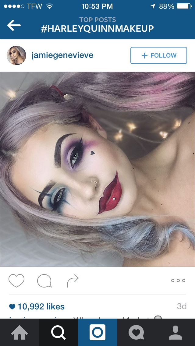 Harley Quinn makeup                                                                                                                                                                                 Más