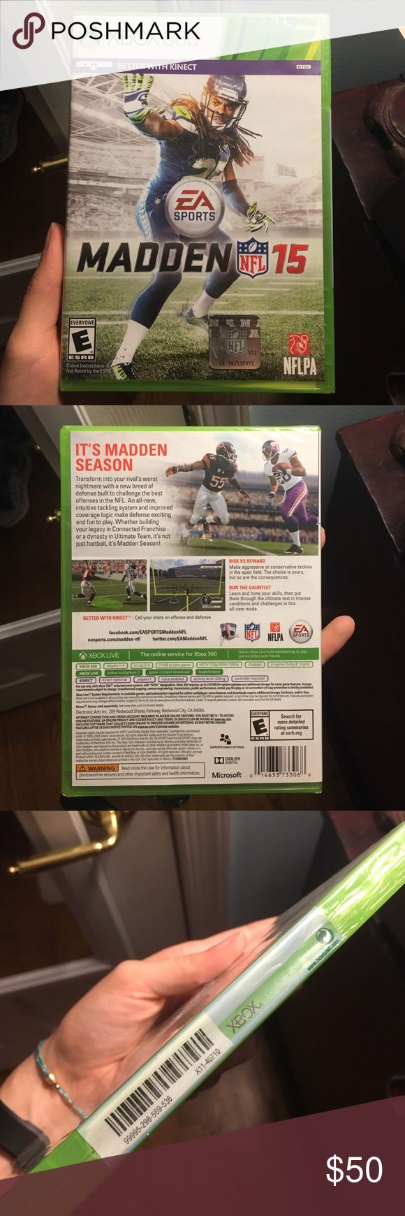 Madden 15 Brand new Xbox 360 game, never opened/ used. xbox Other