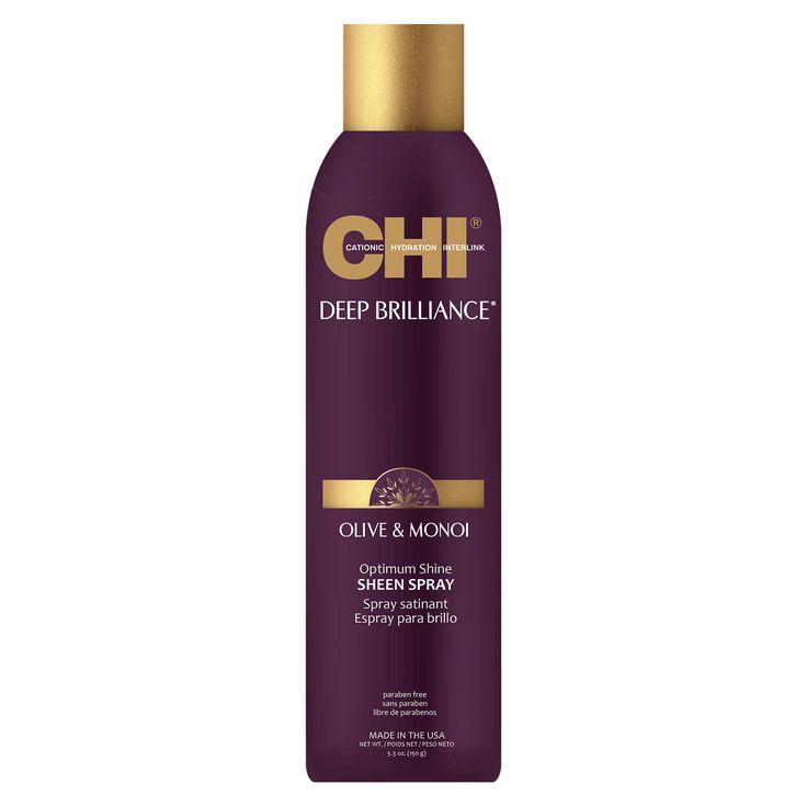 CHI Deep Brilliance Olive & Monoi Optimum Shine Sheen Spray 150g.