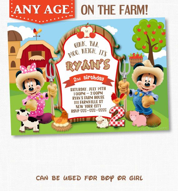 25 best ideas about Mickey Mouse Invitation – Birthday Invitation Pictures