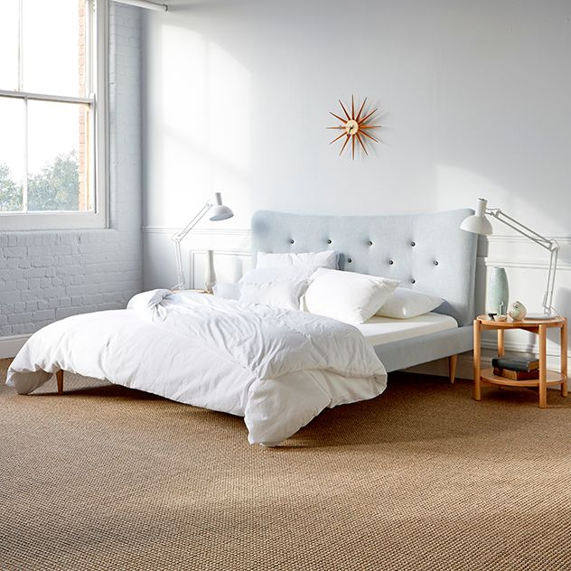 The Loren Bed from Steijer is an elegant, sculptural form which references the American Mid-Century Organic approach to product design. Available in three popular UK sizes - Super King, King Size and Double. Because the bed dismantles for transport and installation self-assembly is required.