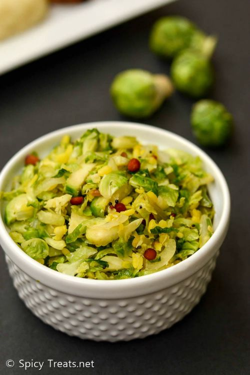 Spicy Treats: Brussel Sprouts Poriyal   Brussel Sprouts Stir Fry With Moongdal   Indian Brussel Sprouts Recipe
