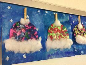 Warme Mützen im Winter Vielleicht erinnert ihr euch an unser Winterbild Handschuhe ? Dieses kleine Kunstprojekt gehört zu meinen liebsten un...