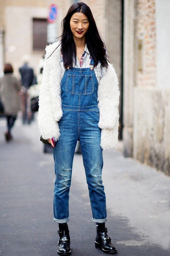 47 best images about How to Wear Overalls on Pinterest | Spring White denim and Back details