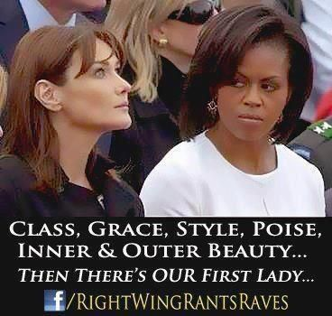 Then there is our first lady...I couldn't agree more.