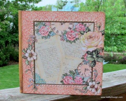 A Scrapbook Wedding Album with Graphic 45 - ValByDesign