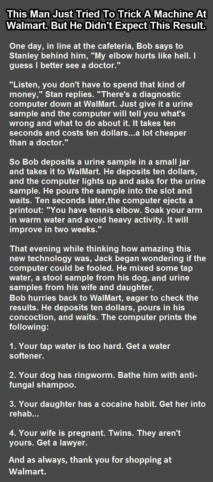 ...man tries to trick walmart  machine
