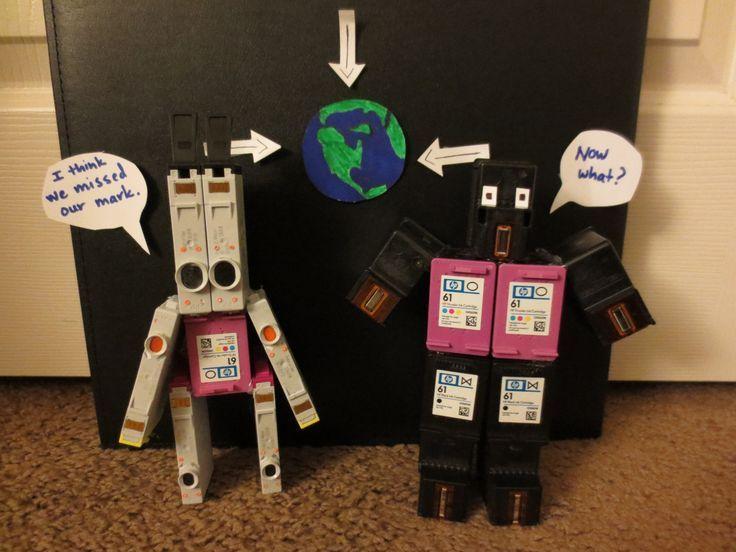 Creative away to recycle printer cartridges.  #printer #printercartridge