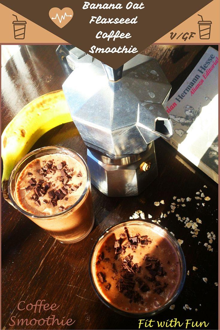 Frozen Recipe  ☕ Smoothie al Caffè con Avena, Banana e Semi di Lino   Banana, Oat, Flaxseed and Coffee Smoothie ☕   #fitwithfun #fitchef #recipe #ricetta #healthy #healthyfood #smoothie #coffee #cocoa #banana #glutenfree #raw #oat #flaxseed #vegan #foodblogger #training #iifym #iifymitalia #eatclean #light #fit #fitness #foodgasm #fitfam #bodybuilding #caffè #frullato #frozen