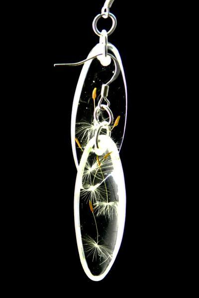 Ohrhänger Pusteblume oval von Luflom auf DaWanda.com
