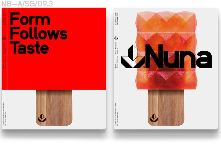"Nuna World GmbH, ""Form Follows Taste"" Brand Catalogue"
