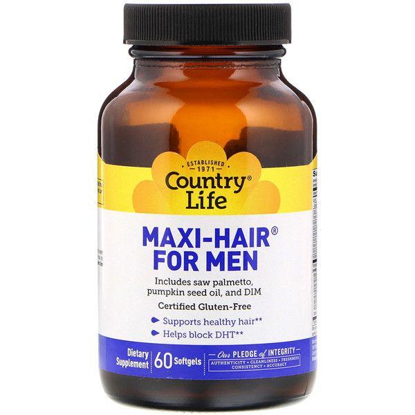 Country Life Maxi Hair للرجال 60 كبسولة هلامية Pumpkin Seed Oil Workout Food Healthy Snacks For Diabetics