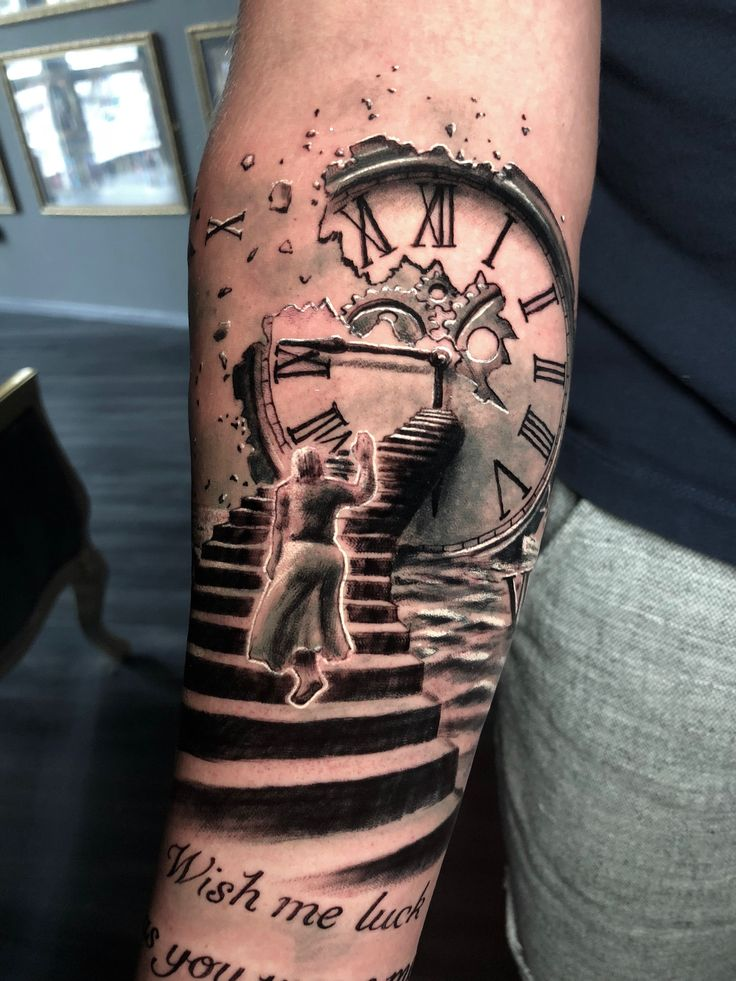 Stairs Clock Tattoo By Roberto Limited Availability At