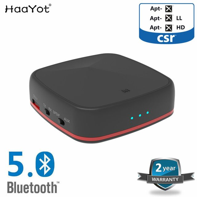 Haayot Csr8675 Bluetooth 5 0 Transmitter Receiver Audio Wireless Adapter Aptx Hd Low Latency Optical Rca 3 5mm Fo Headphones For Tv Headphones Review Bluetooth