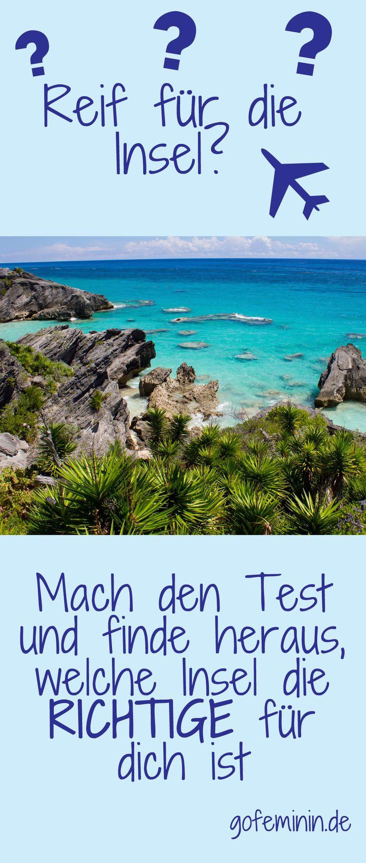 Auf und davon! Finde jetzt heraus, auf welcher Trauminsel du unbedingt mal Urlaub machen solltest: http://www.gofeminin.de/reise/test-trauminsel-s1442399.html #reise #urlaub #insel