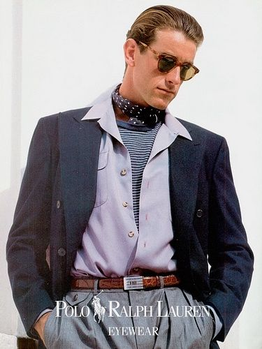 Timeless S T Y L E ~ Brand: Ralph Lauren Polo evewear Season: Spring/Summer 1991 Model(s): Tim Easton, Andrew Smith Ph: Bruce Weber source : uomoclassico.com