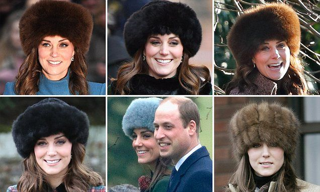 Kate's love of fur hats stretches back more than a decade