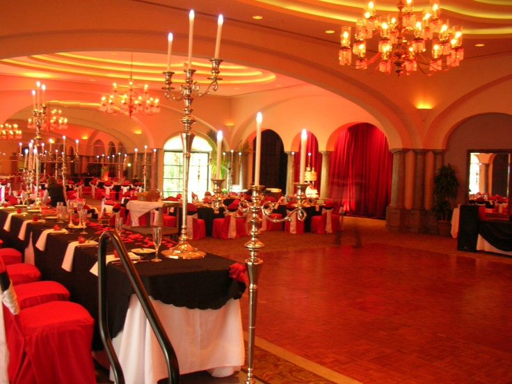 phantom of the opera themed wedding reception at sonterra country club decor provided by bisli - Halloween Themed Wedding Reception