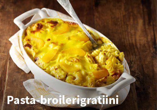 Pasta-broilerigratiini, Resepti: Valio #kauppahalli24 #resepti #gratiini #broileri #verkkoruokakauppa