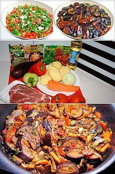 Аджапсандал: рецепт грузинского блюда с мясом и без, на сковороде, в духовке, мультиварке или на костре